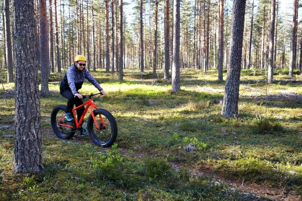 Mountain biking, hill of Lintharju